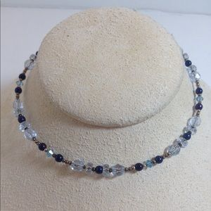 Beaded coil necklace choker